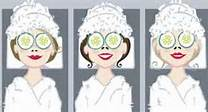 Girls spa day cartoon